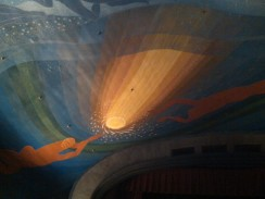 A view of the ceiling at Cape Cinema, on Cape Cod (Photo by J. Kaufman)
