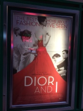 The poster for Dior And I outside the Ritz Bourse.