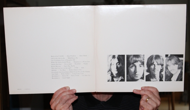 The author with his well worn vinyl edition of The White Album.
