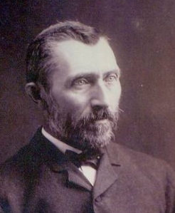 There are several purported photographs of Vincent van Gogh. None are totally authenticated. This is believed to be from about 1886.
