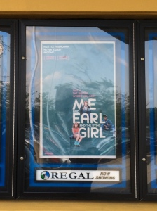 My wife Sandy and I saw Me And Earl And The Dying Girl in Warrington, Pennsylvania.