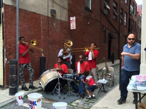 Brass band wailing away in Old City.