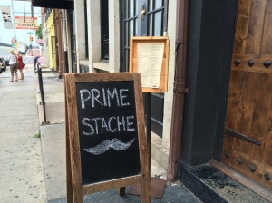 Prime Stache, where we had dinner.
