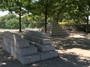 Steps and Pyramid, two sculptures by Sol LeWitt.