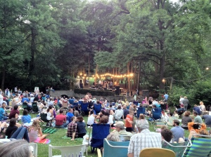A typical concert scene at beautiful Pastorius Park.
