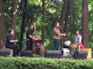 Venissa Santi and her band at Pastorius Park in July 2014.