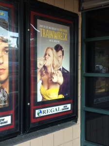 Amy Schumer and Bill Hader star in Trainwreck.