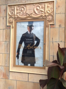 We saw Mr. Holmes at the Ambler Theater in Ambler, PA.