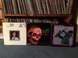 The three albums that caused problems. Photographed in bunker before Vinyl Night began.