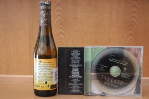 Left to right: Beer; Caramel's lyrics; the CD on which Caramel appears.