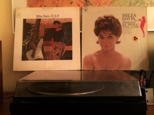 Frances Taylor Davis is on the covers of these two Miles albums.